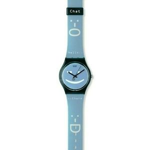 Swatch Watch Chat-Net (GB188) New In Box!